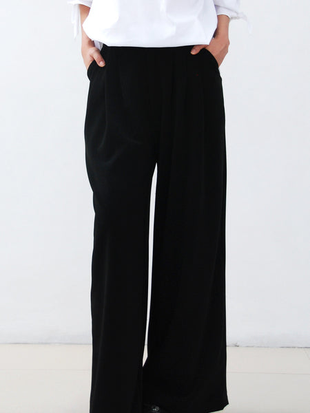 Morgan black wide leg pants