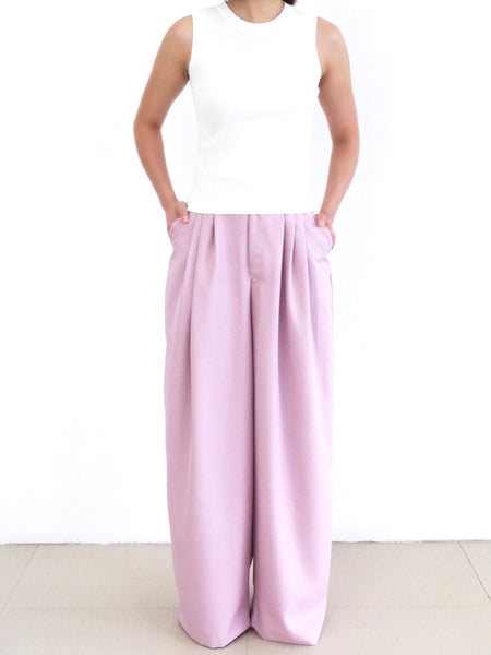 Morgan lilac wide leg pants