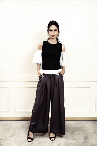 Morgan grey wide leg pants