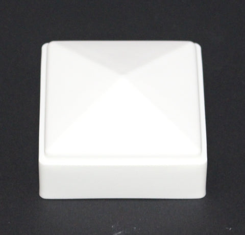 2 x 2 White Plastic Fence Post Cap for metal, plastic or vinyl fence
