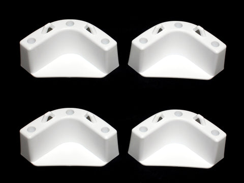 JSP White Boat Marine Cooler Mounting Kit for Yeti Igloo Engle Coleman (SET OF 4)