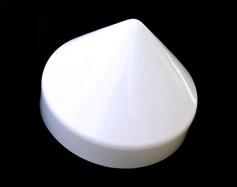 "WHITE Cone Style From 7"" to 12"" Piling Marine Dock Boat Pylon Post Head Cone Cover"