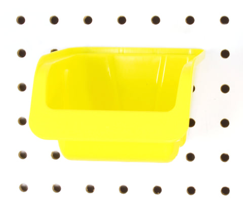 Medium Plastic Yellow Pegboard Storage Bins