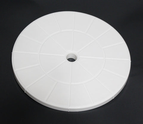 "Swimming Pool Skimmer Cover Debris Canister Deck Lid 9 1/8"" Inch Skimmer Valve Lid White Replacement"