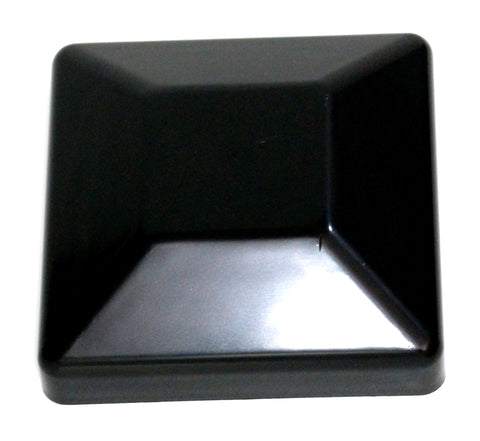 "4x4 Plastic Fence Post Caps Black (3-5/8""x 3-5/8"")"
