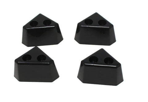 4 Pack Of BLACK Plastic Furniture Triangle Corner Legs - Sofa Couch Chair