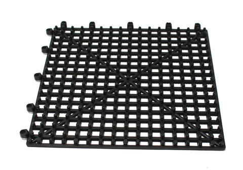 "Flexible Plastic Black 6 pack Interlocking Tile Flexible Patio Floor Pool Boat 12""x12"" 6 Pack"