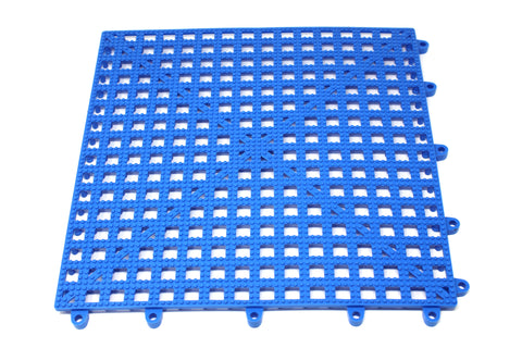 "Flexible Plastic Blue 6 pack Interlocking Tile Flexible Patio Floor Pool Boat 12""x12"" 6 Pack"