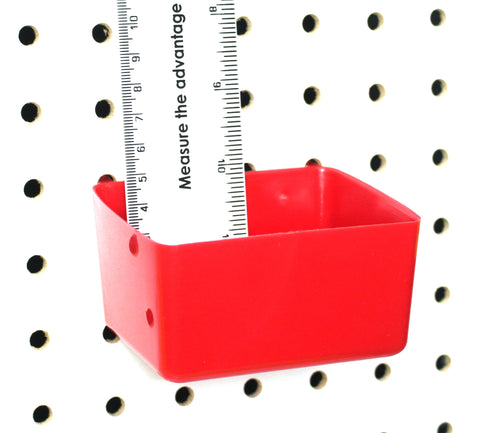 Small Plastic Red Pegboard Storage/Part Bins