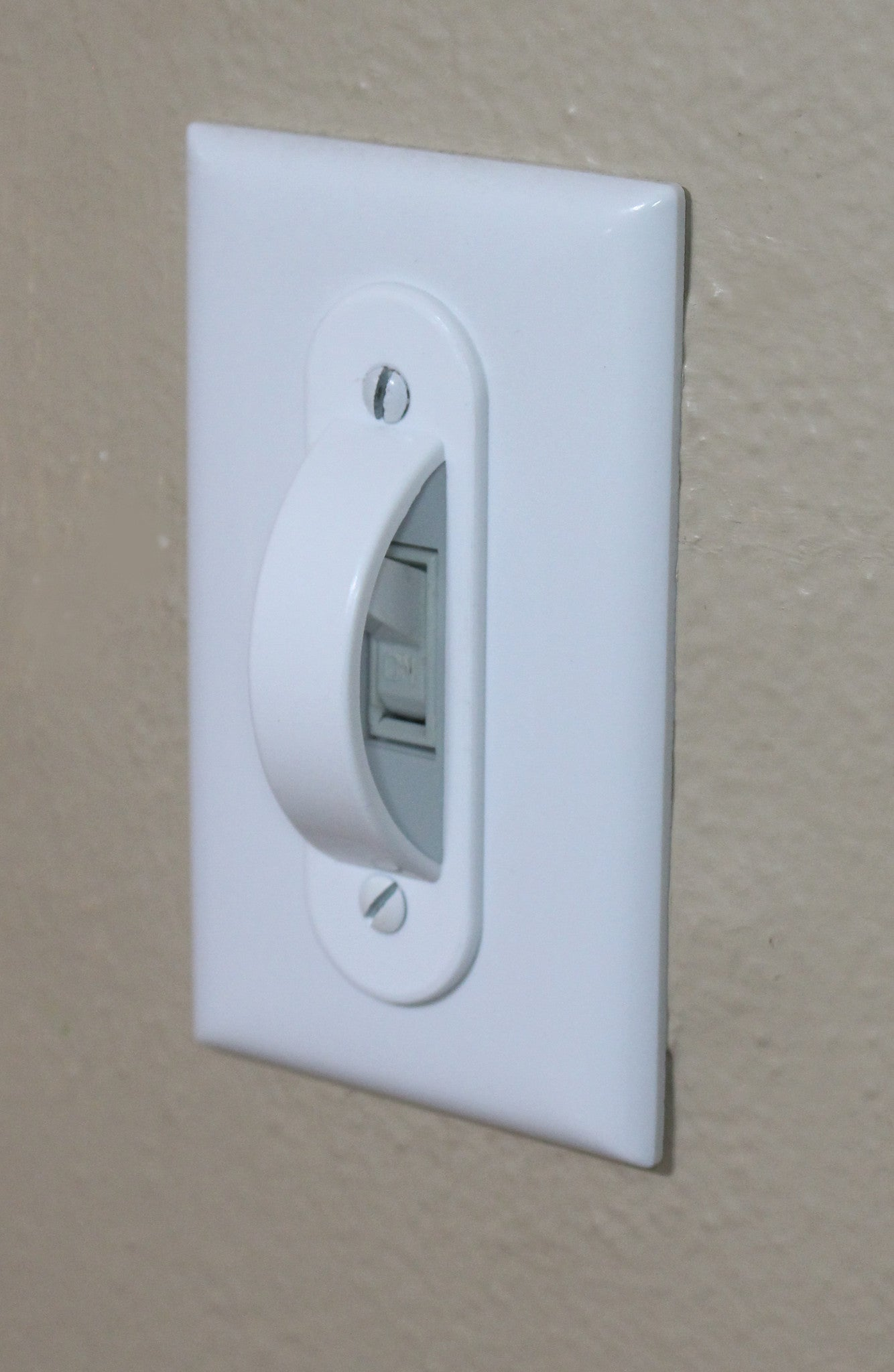 White Switch Plate Cover Guard Keeps Light ON Or Off Protects Your Lights Circuits