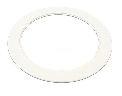 "White Light Trim Ring Recessed Can 6"" Inch Over Size Oversized Lighting Fixture"
