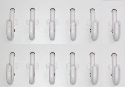 J Style White Plastic Locking Pegboard Hooks Plastic Locking Pegboard Hooks - Crafts / Tools - Multi-Quantity packs