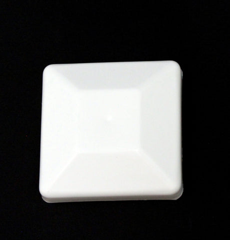 "Nominal 4x4 Plastic Fence Post Caps White (3-5/8""x 3-5/8"")"