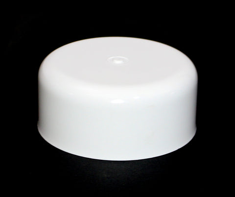 Fence Post Plastic Round White Caps 3.5 (3 1/2)-White-Pressure Treated Wood