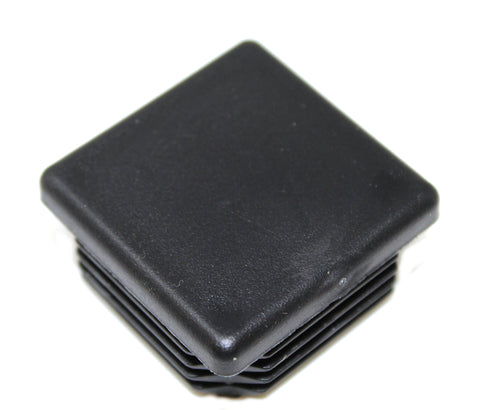 Plastic 1-1/2 inch Black Square Tubing Cap, Finishing Plug, Pipe Tubing End Cap, Durable Chair Glide Universal