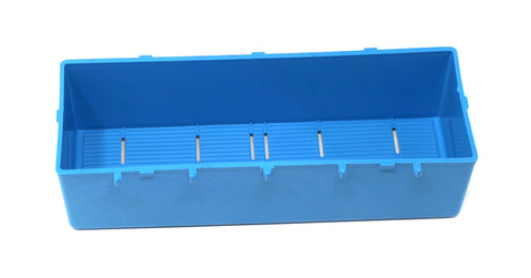 PegBoard Bin BLUE Parts Storage Bins Hooks to Peg Tool Board Workbench  Craft
