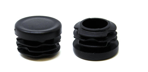 "1"" Round Tubing Plastic Black Hole Plug End Cap, 1 inch OD Tube Pipe Cover Plug, Heavy Duty Plastic Plug Cap Insert, Durable Chair Glide"