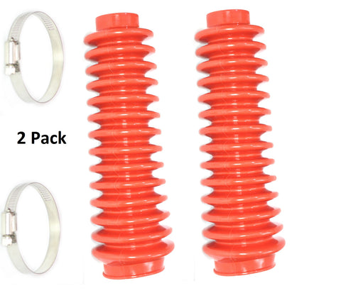 Aftermarket Red Shock Absorber Boot Cover 2-Pack, JSP Brand Replaces ROU-87150