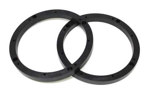 "Universal Black 1/2"" Plastic Depth Ring Adapter Spacer 6.5"" for Car Speaker Pair"
