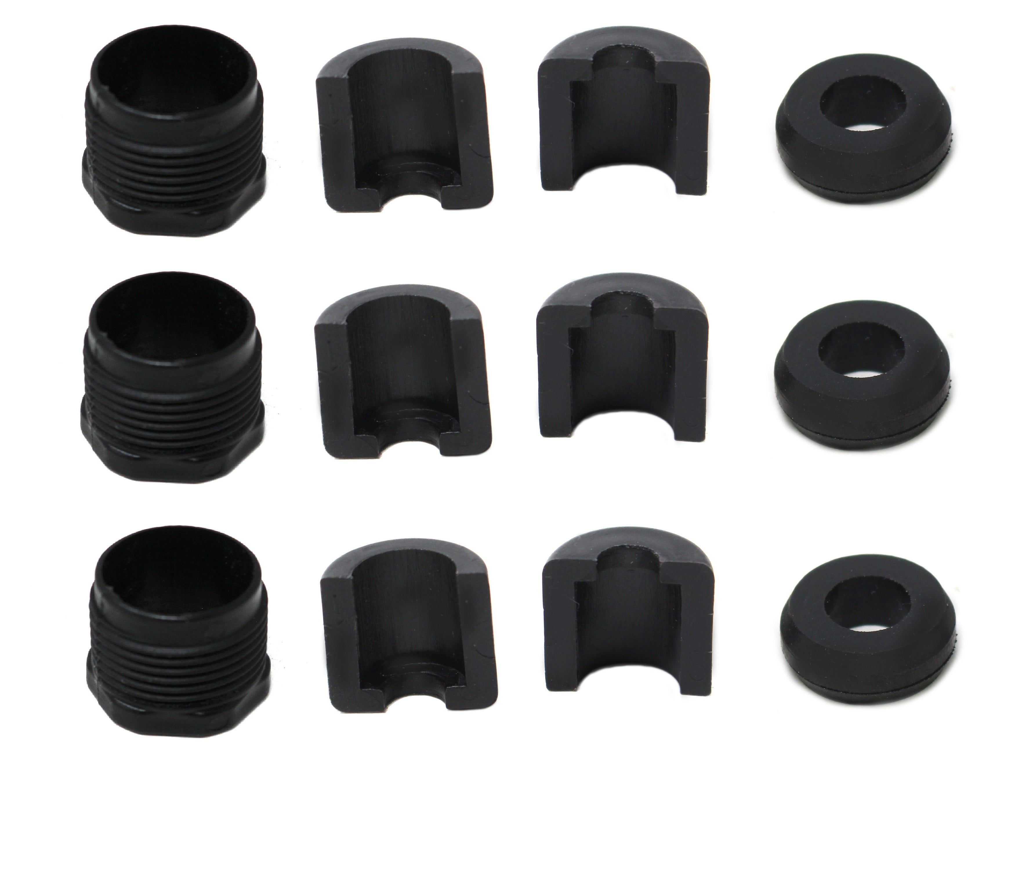 JSP Manufacturing Aluminum Reverse Cable Lock Nut Kit Compatible with SeaDoo 277001729 277000055 211100009