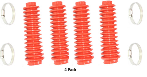 Aftermarket Red Shock Absorber Boot Cover 4-Pack, JSP Brand Replaces ROU-87150