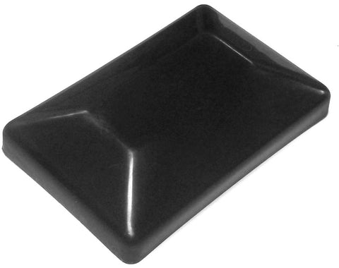 "4x6 Plastic Fence Post Caps Black (3-5/8""x 5-5/8"")"