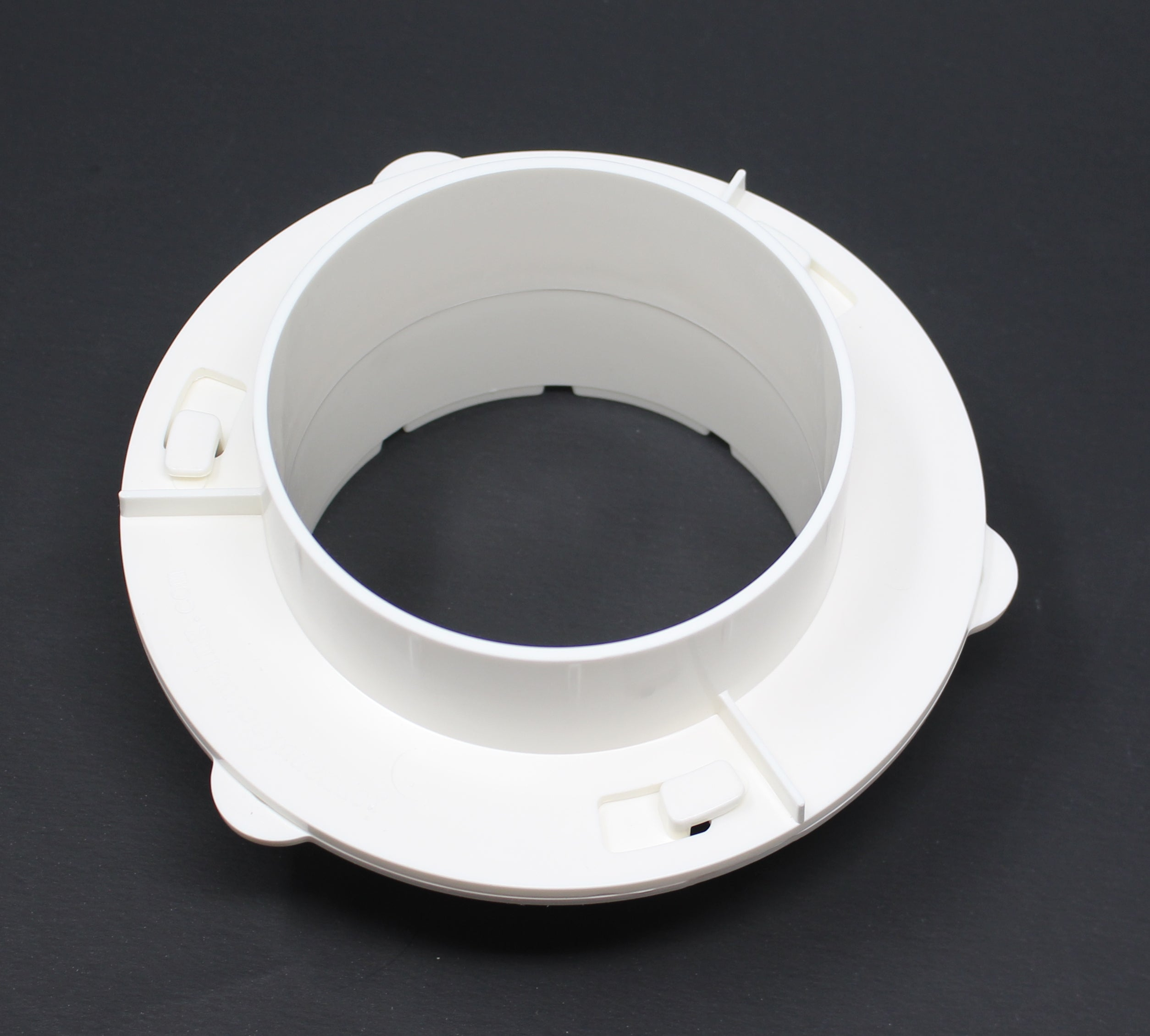 White Dryer Duct To Wall Connector Quick Connect For Dryer