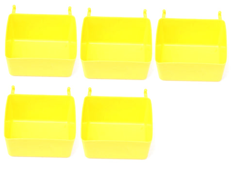 Small Plastic Yellow Pegboard Storage/Part Bins