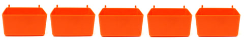 Small Plastic Orange Pegboard Storage/Part Bins