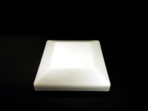 "6x6 Plastic Fence Post Caps White (5-5/8"" x 5-5/8"")"