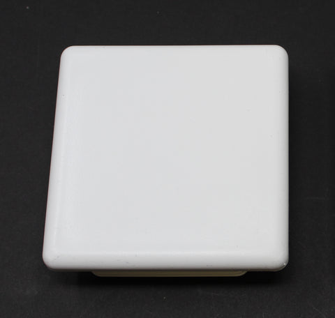 Plastic 4x4 inch White Square Tubing Cap, Finishing Plug, Pipe Tubing End Cap, Durable Chair Glide Universal