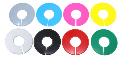Blank Round Plastic Rack Dividers - Pick a Color / Pick a Quantity