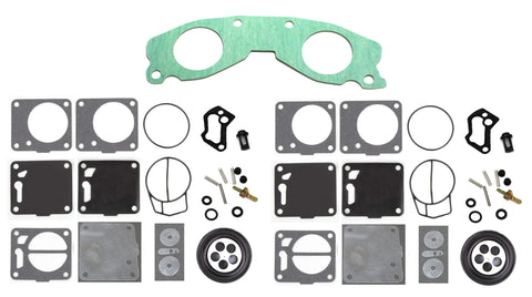 Yamaha Mikuni Dual Carb Rebuild Kit with Base Gasket 64X-13556-00-00 XL 760 Wave Runner Wave Blaster Wave Venture
