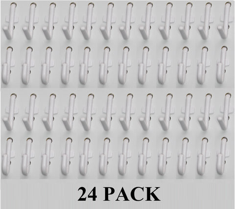J & L Style Plastic White Pegboard Locking Hooks Kits - Multi-Packs | Garage storage jewelry tools crafts Plastic Peg board hooks