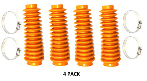 Aftermarket Orange Shock Absorber Boot Cover 4-Pack, JSP Brand Replaces ROU-87172