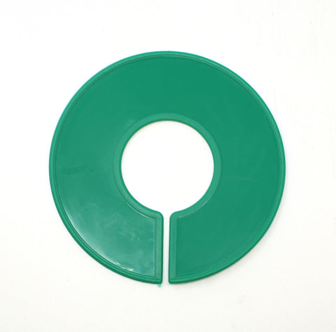 Green Round Plastic Blank Rack Size Dividers - Multi-Pack