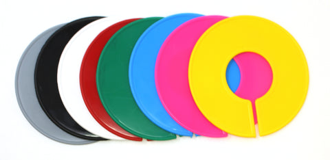 Blank Round Plastic Rack Size Dividers - Variety Color Pack (1 of each color)