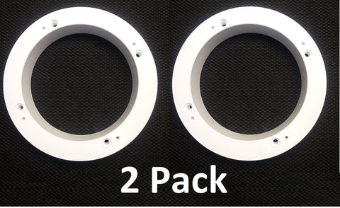 "2 Pack of White 1"" Plastic Depth Ring Adapter Spacer for 5.25 ""- 6"" Car Speaker"