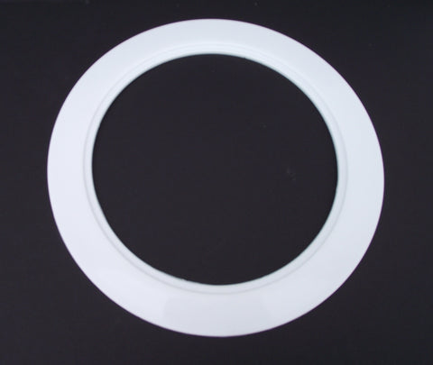 "Plastic White Light Trim Ring Recessed Can 6"" Inch Over Size Oversized Lighting Fixture"