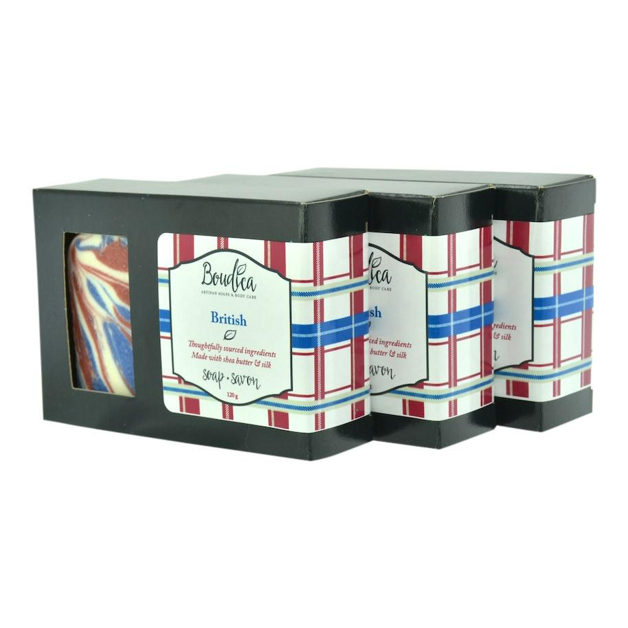 British soap, gift packaging - Boudica Body Care