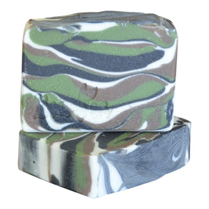 Camo soap, gift packaging - Boudica Body Care