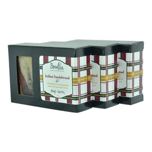 Indian Sandalwood soap, gift packaging - Boudica Body Care