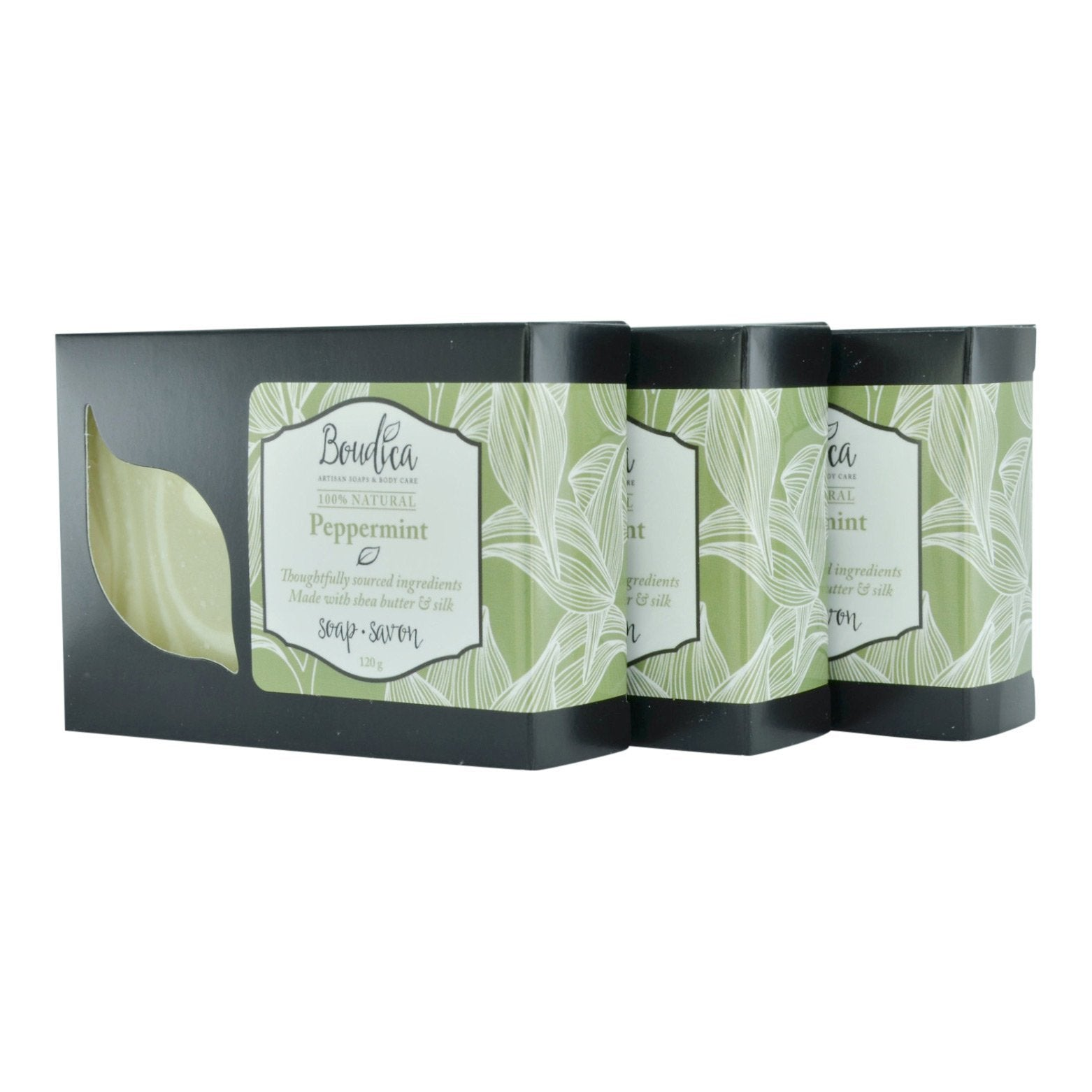 Peppermint soap, gift packaging - Boudica Body Care