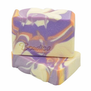 Pomegranate Mango soap, gift packaging - Boudica Body Care