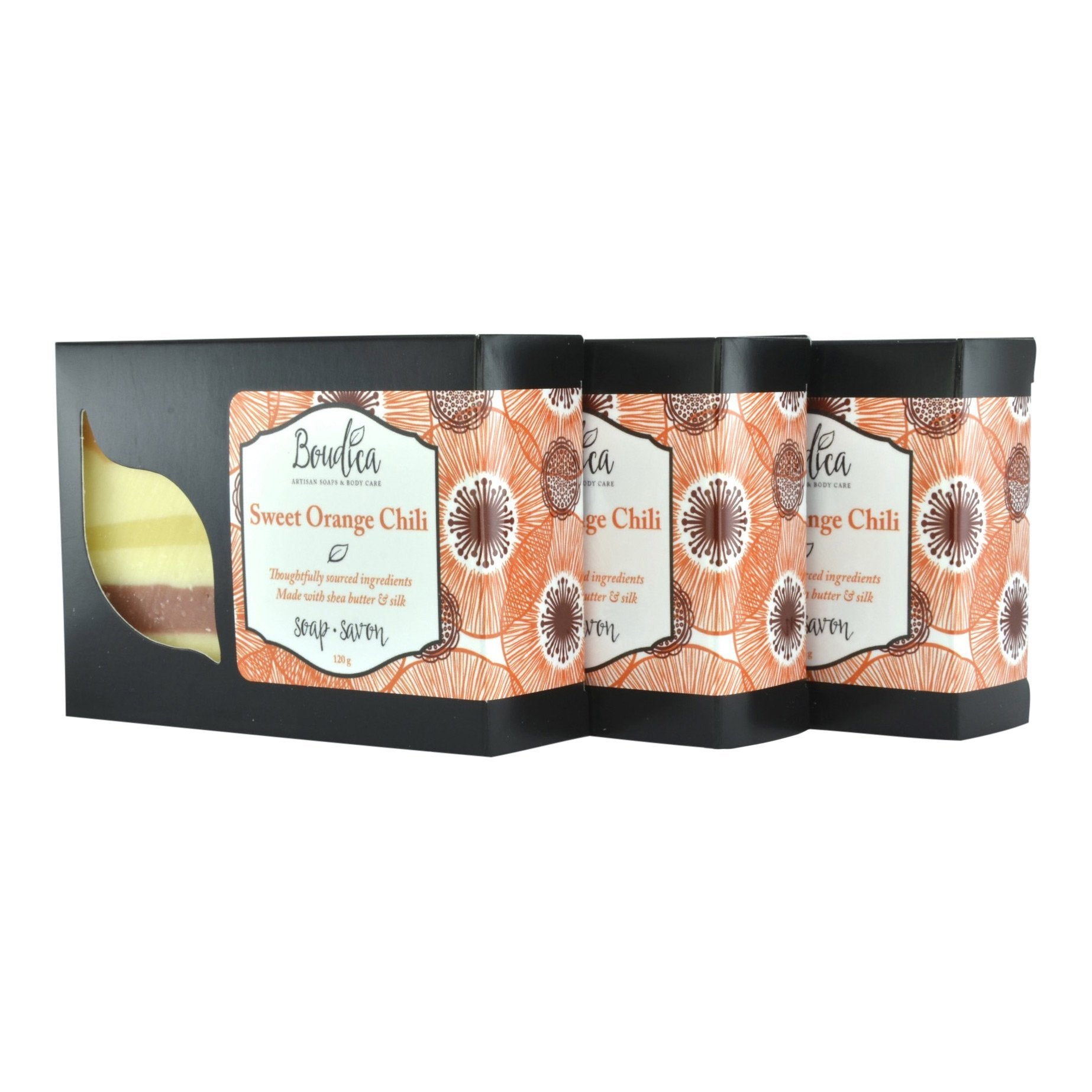 Sweet Orange Chili soap, gift packaging - Boudica Body Care