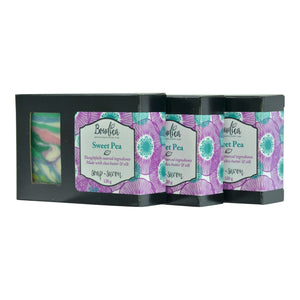 Sweet Pea soap, gift packaging - Boudica Body Care