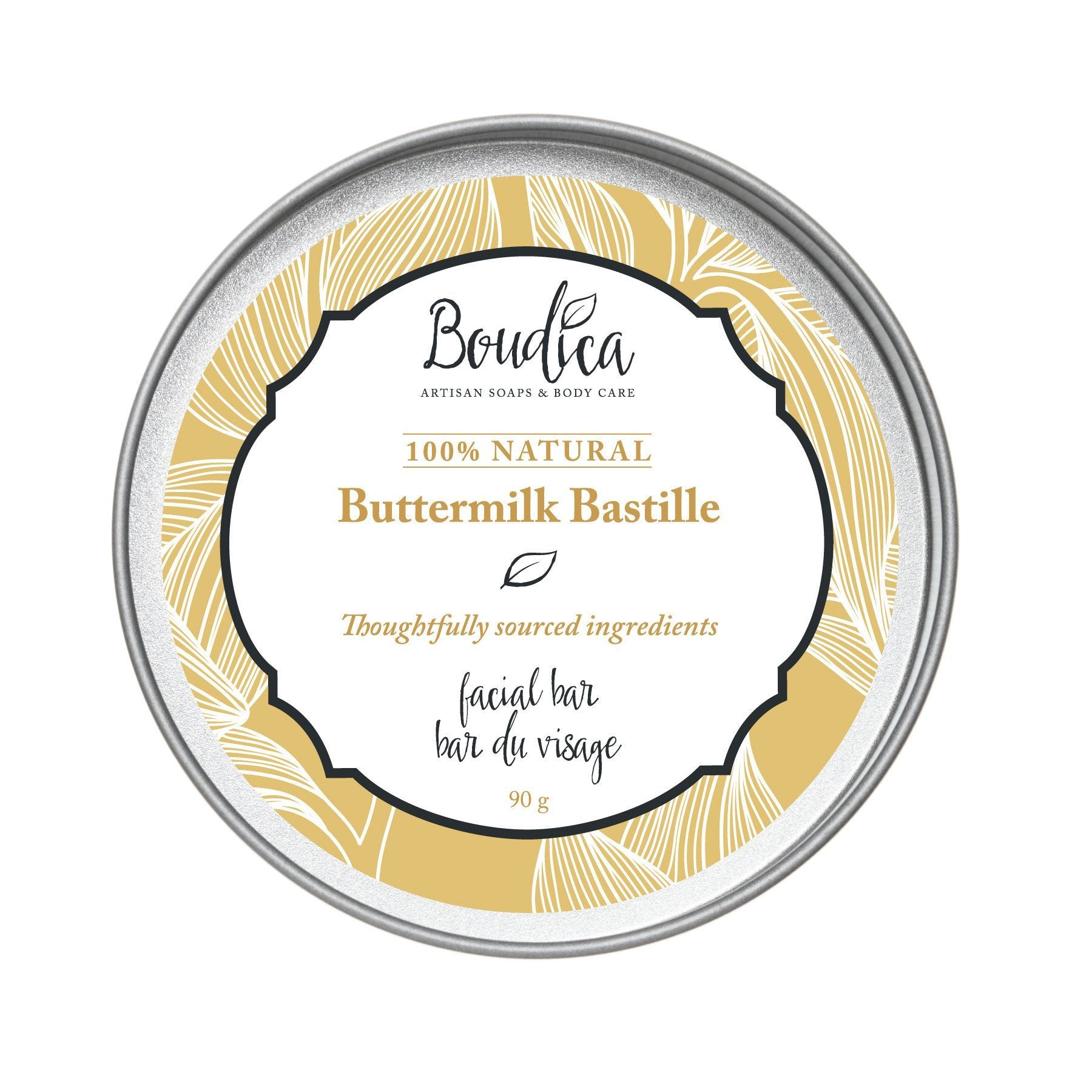 Buttermilk Bastille soap, gift packaging - Boudica Body Care