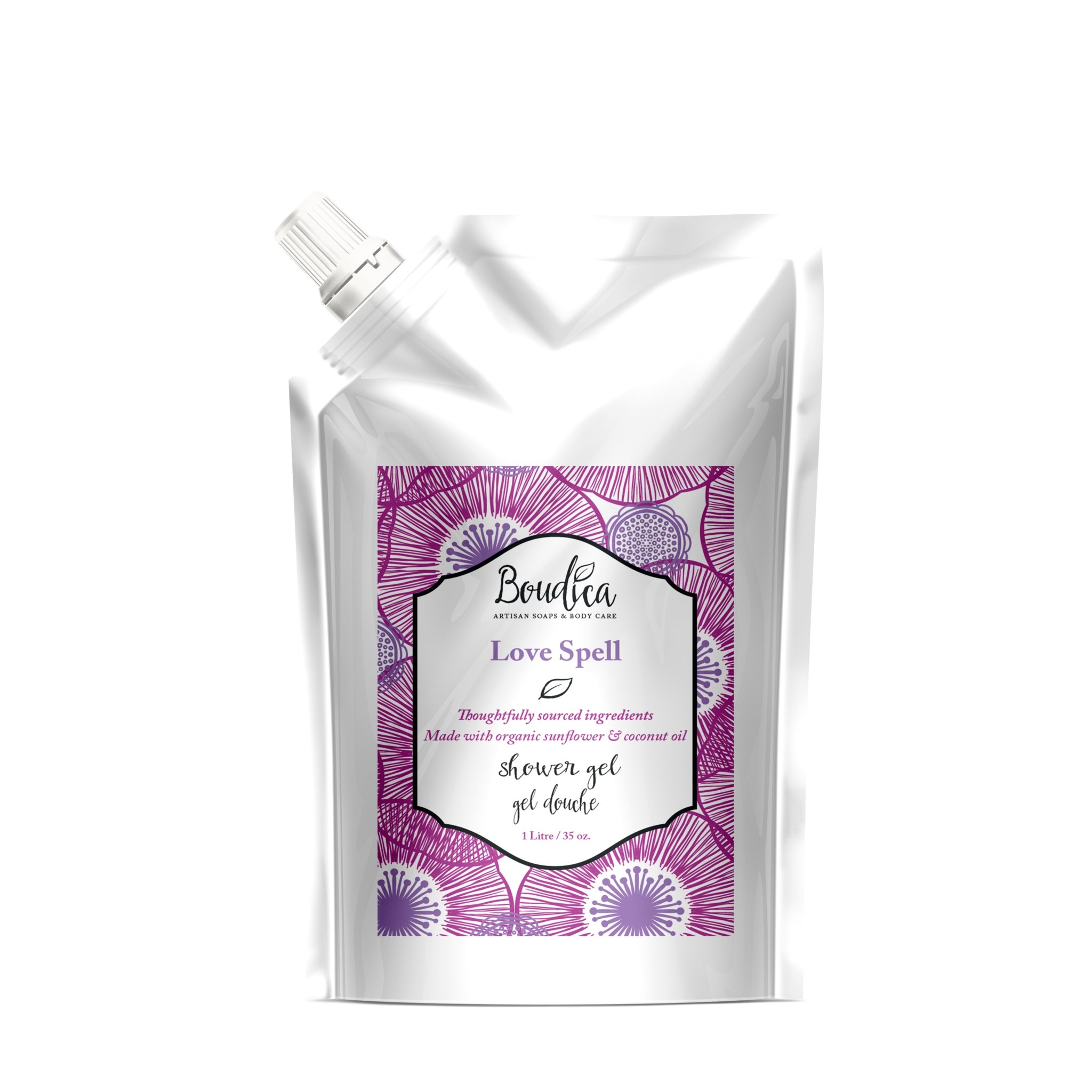 Love Spell shower gel - 1 Litre - Boudica Body Care