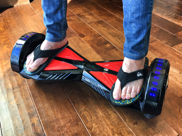Riding a Hoverboard with Flip Flops