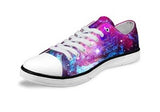 Women's Purple Fashion Galaxy Star Canvas Shoes